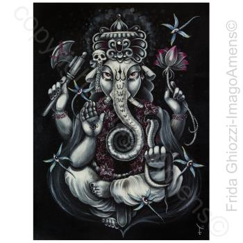 GANESH / Printed Paintings On Canvas